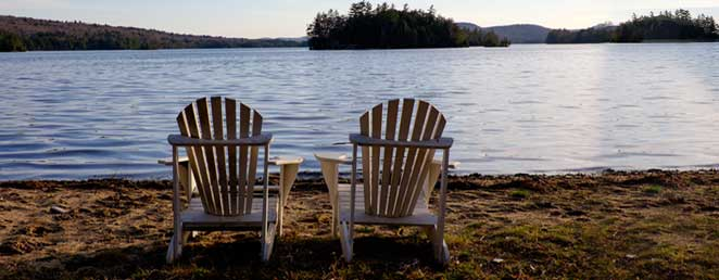 detail-adirondack-chairs-on-lake-summer - Blue Mountain Rest