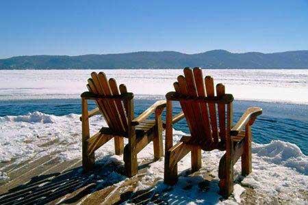 Blue Mountain Rest adirondack chairs winter